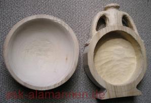 Alamannische Feldflasche im Bau