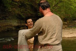 Taufe einer Alamannin