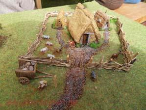 Diorama Alamannisches Gehöft