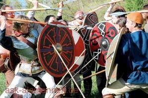 Alamannen in der Schlacht